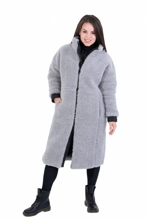 Экошуба FASHION, цвет серый