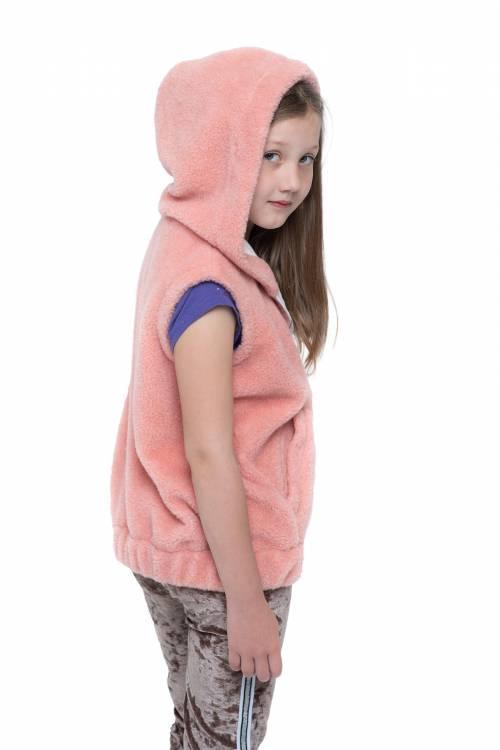 Жилет детский NORD с капюшоном (цвет Лосось)