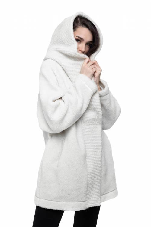 Кардиган Меховой из овечьей шерсти, цвет Ваниль