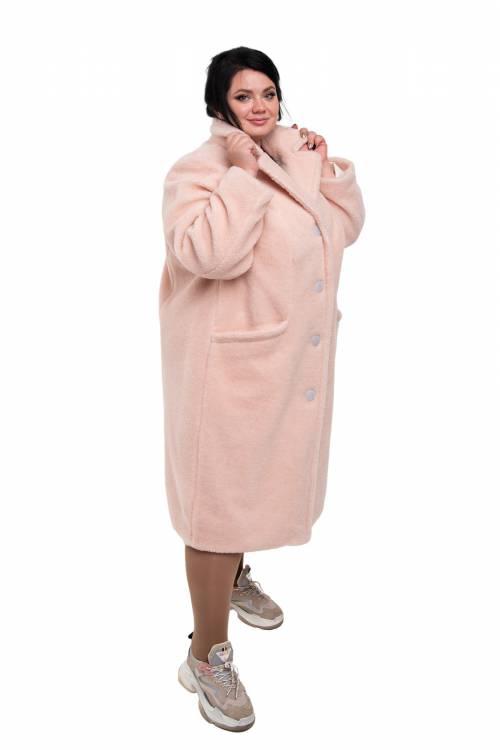 Пальто Классика XXL+ (цвет Пудра)