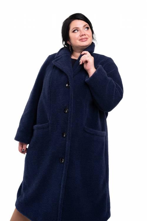 Пальто Классика XXL+ (цвет Индиго)