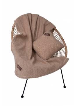 Комплект подушка+плед БУКЛЕ (верблюжья шерсть)