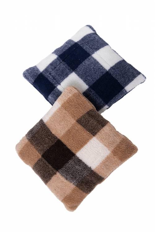 Подушка меховая КЛЕТКА