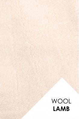 Мех однотонный 100% шерсть мериноса Ваниль