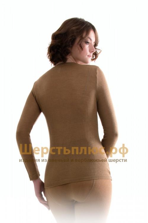 Майка женская из верблюжьей шерсти с длинным рукавом