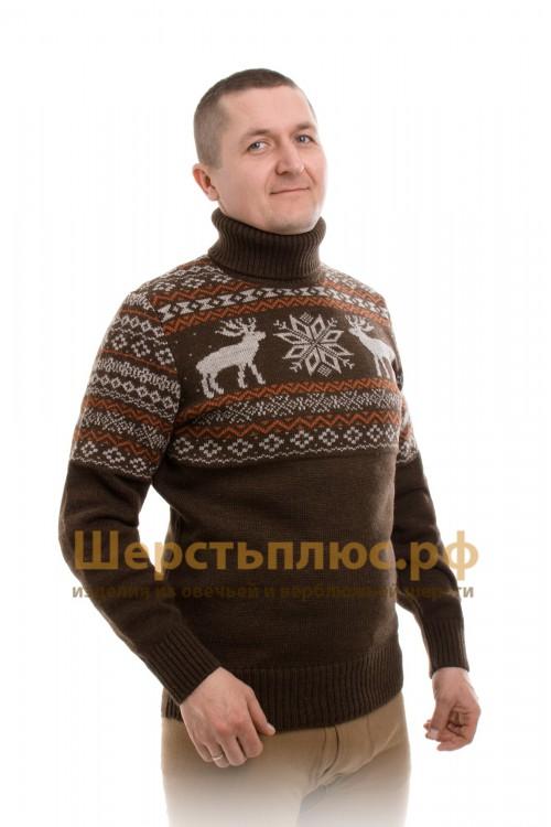"""Свитер из верблюжьей шерсти """"Олени"""""""