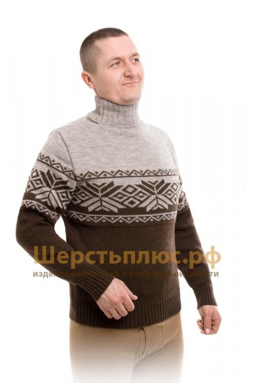 """Свитер из верблюжьей шерсти """"Снежинка"""" (размер 46-48)"""