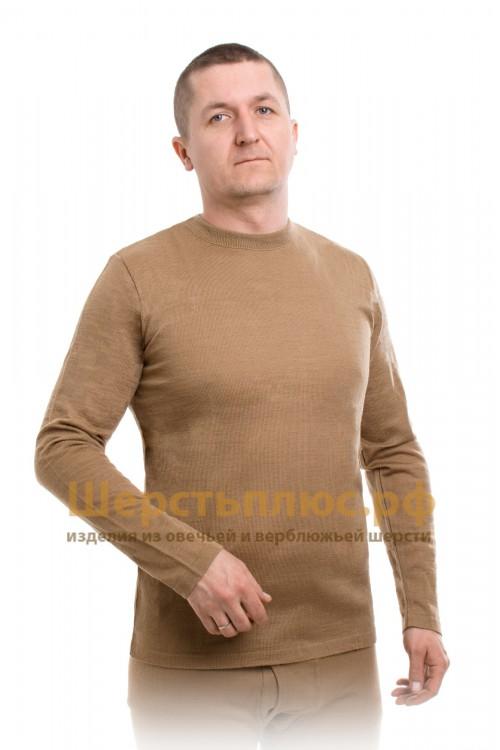 Майка мужская из верблюжьей шерсти с длинным рукавом