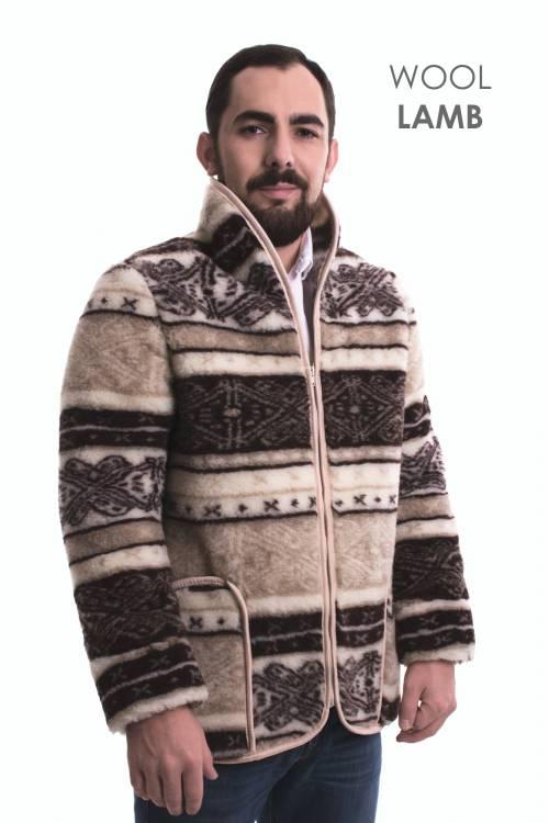 Куртка мужская из овечьей шерсти