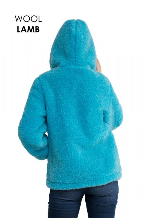 Экошубка с капюшоном БИРЮЗА, удлиненная (80см)