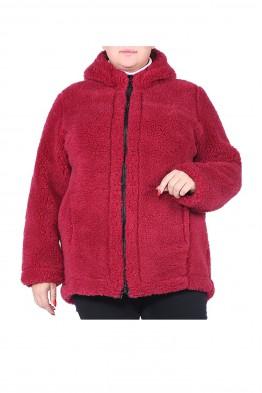 """Куртка  меховая """"СИБИРЬ""""-Бордо (размер 52-54) с капюшоном"""
