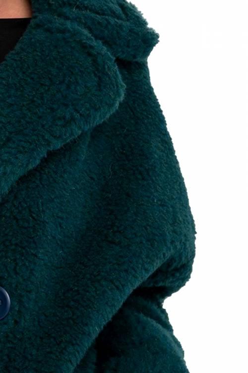 Экошубка с воротником МАЛАХИТ, 65см