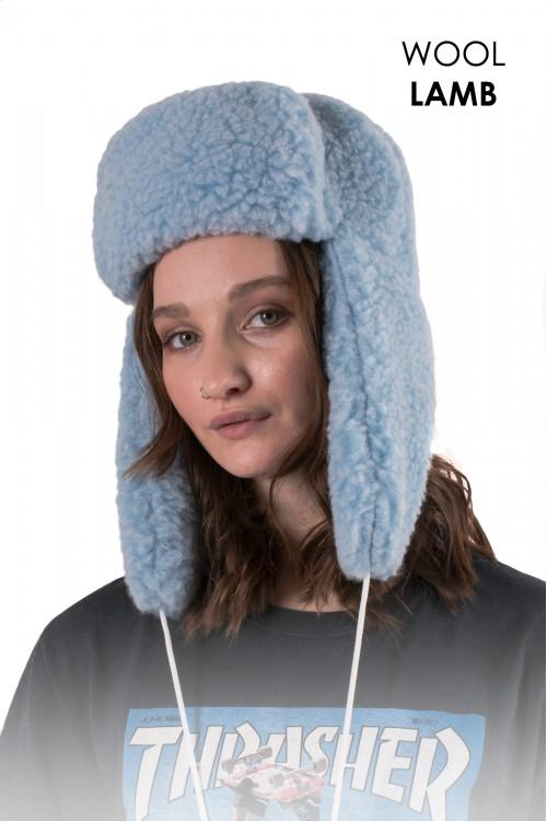 Шапка-ушанка, цвет Голубой