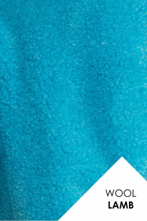 Мех для шубок (цвет БИРЮЗА), натуральная овечья шерсть, 600гр/м