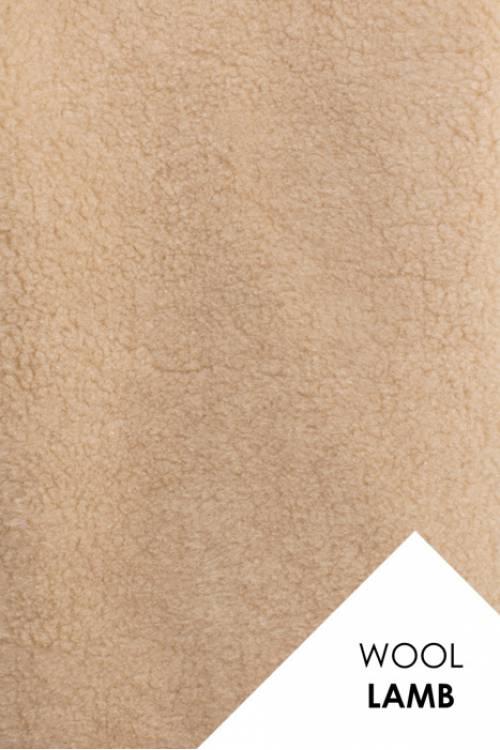 Мех для шубок (цвет КАРАМЕЛЬ), натуральная овечья шерсть, 600гр/м