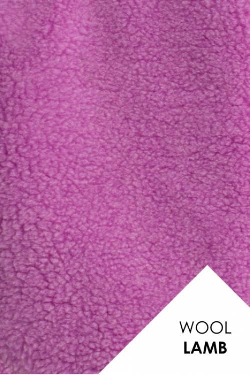Мех для шубок (цвет СИРЕНЬ), натуральная овечья шерсть, 600гр/м